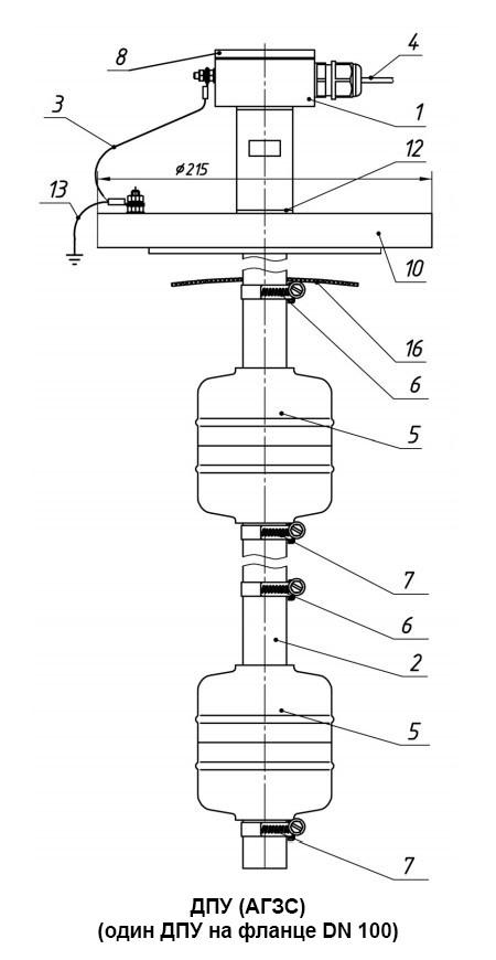 ДПУ (АГЗС) (один ДПУ на фланце DN 100)