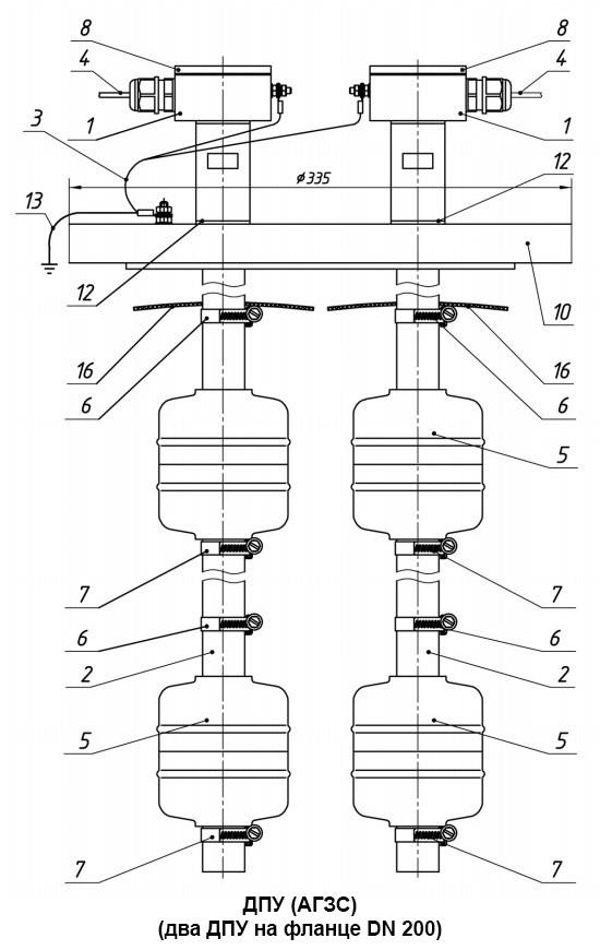 ДПУ (АГЗС) (два ДПУ на фланце DN 200)
